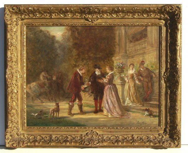 17: Anthony Jones-The Arrival-Oil (British 19th Cent)