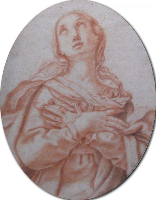 23: Attr: Sassoferrato-Saint in Ecstasy (Italy b1609)