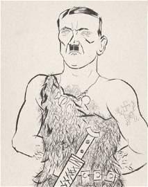 76: George Grosz-Adolf Hitler (German 1893-1959)