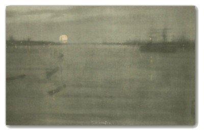 205: JAM Whistler-Nocturne-Stone Litho (1834-1903)