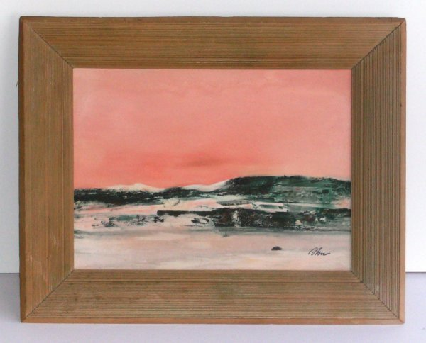 1003: Harold Cohn - Landscape Oil on Board (b.1908)