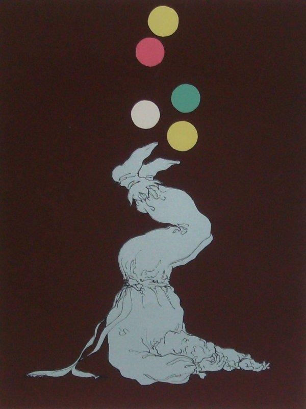 1008: Robert Sargent - Juggler -Lithograph (20th Cent)