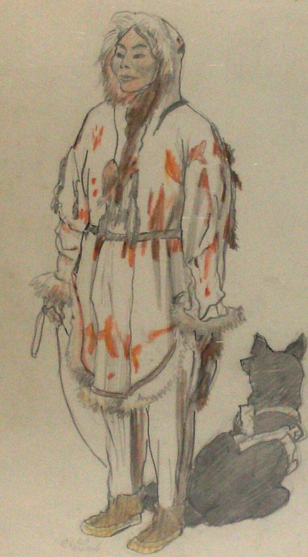 1010: Carl Link - Alaska-2 Pencil Drawings (1887-1968)