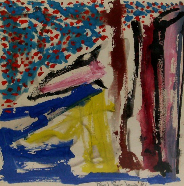 1013: Paul England - Watercolor-Abstract (20th Cent)