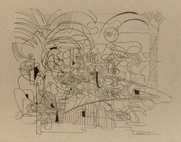 1014: Hilaire Hiler - Black Jamboree-Litho (1898-1966)