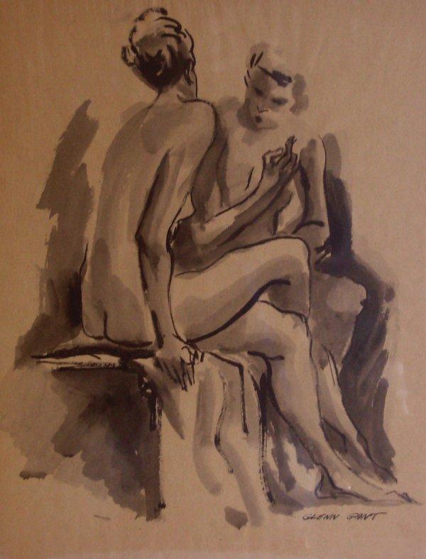1016: Glenn Gant - Female Models-Watercolor (1911-1999)