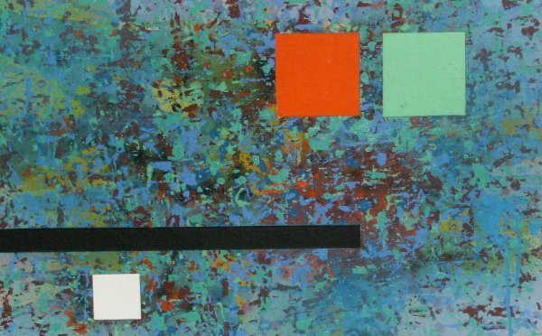 1020: Jay J. McVicker - Mixed Media-Abstract (1911-2004
