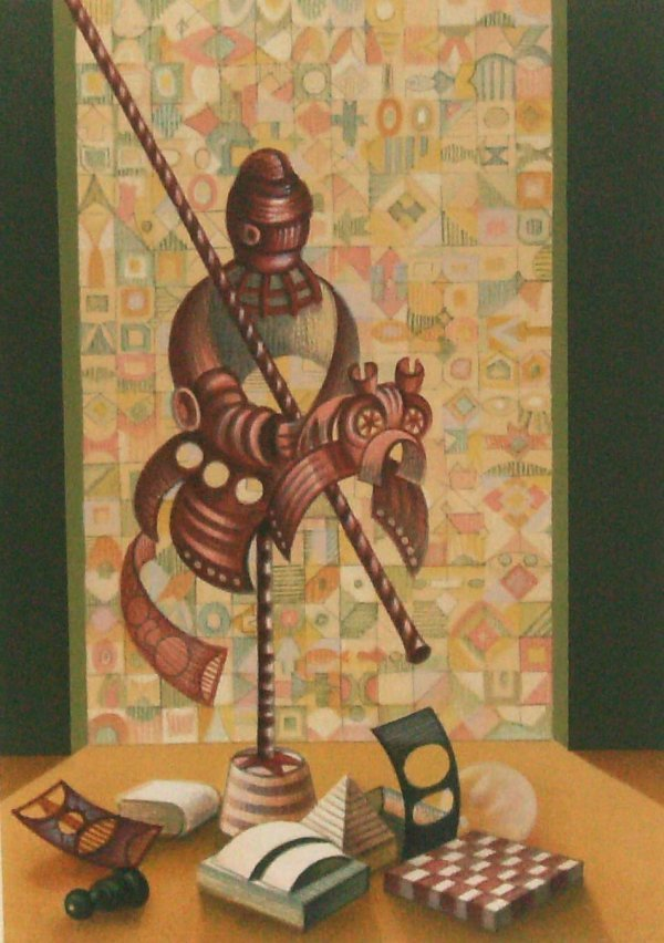 1021: Raffi Kaiser - Knight's Armour-Lithograph (Isreal