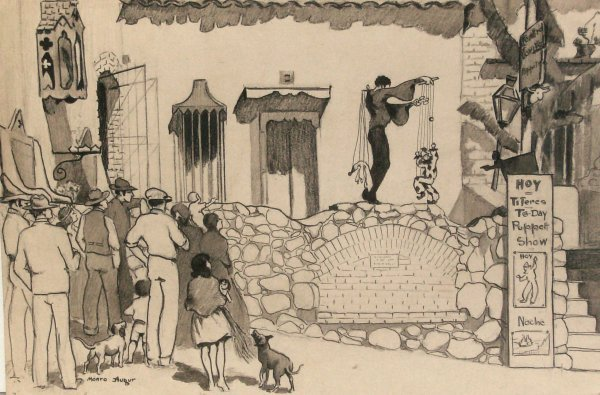 1022: Ruth M. Augur -The Puppeteer-Pencil (1886-1967)