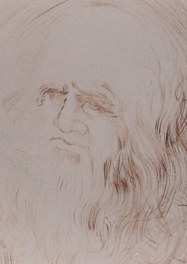 1023: Salvador Dali - Leonardo Da Vinci-Etching