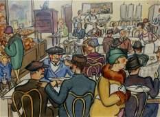 1028: Ethel Spears - Watercolor-Diner (1903-1974)