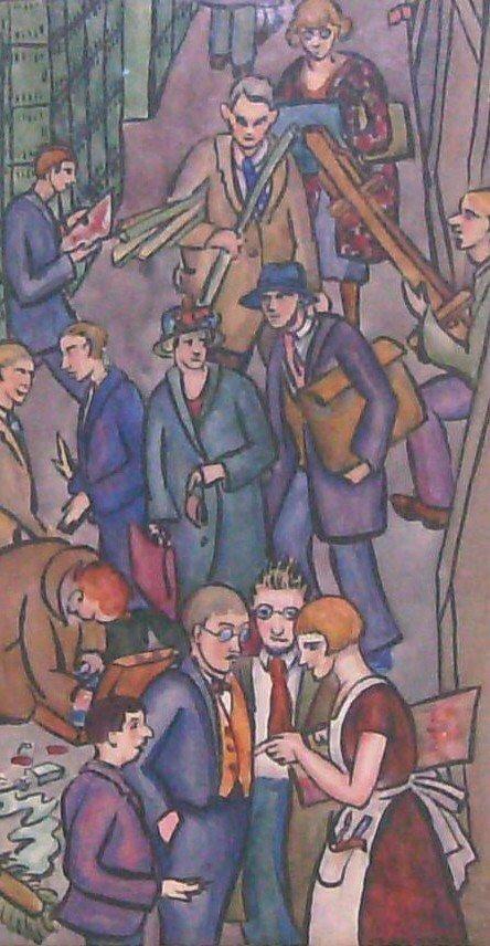 1095: Ethel Spears - Watercolor - Art Institute (1903-1