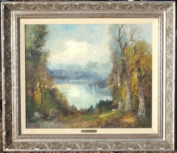 3: William Bauer - Landscape - Oil  (1888-1973)