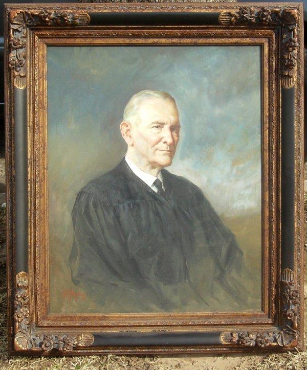 4: Lajos Markos - Judge Clarence Mills - Oil (1917-1993