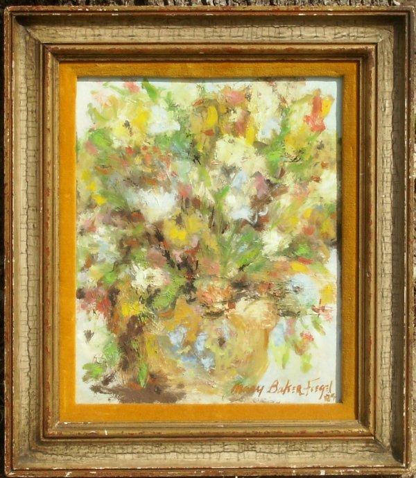11: Mary Baker Fiegel - Flowers - Oil (20th C)