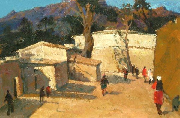 22: Mark Kremer - Tajikistan - Oil (Rus b.1928)