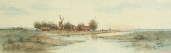 23: Rosencrans - Dutch Landscape - Watercolor