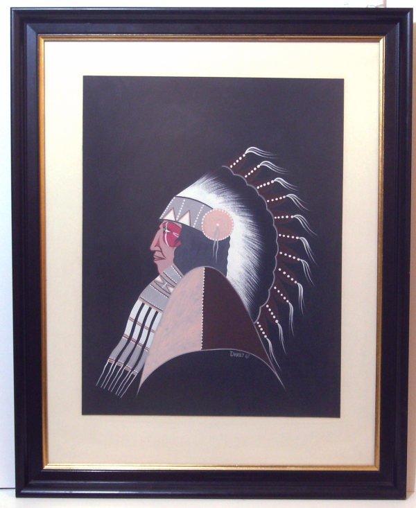 25: Darby - Indian Chief - Tempera (Kiowa b.1938)