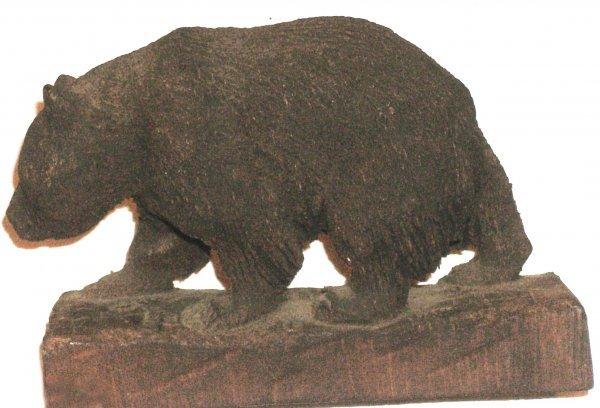 181: John L Clarke - Bear - Wood Carving