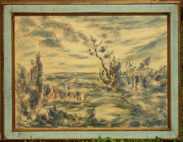 225: John Haysum - Watercolor Landscape (1959-1991)