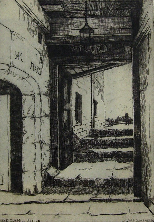 227: Old Sefton Mill - Wakefield Etching
