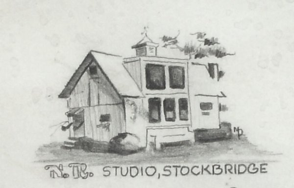 243: Norman Rockwell - Pencil Drawing of Studio