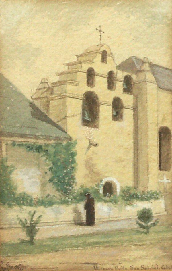 1: Ben Hartley - San Gabriel Mission - Watercolor
