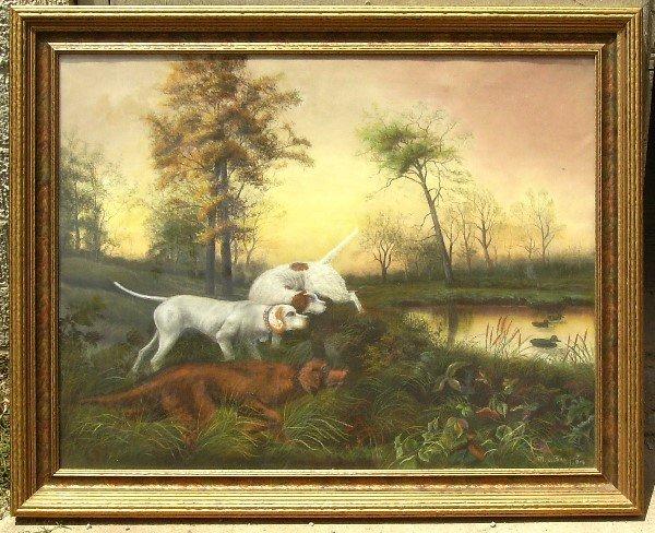5: MB Barsfoot - Hunting Dogs - Pastel, 1904