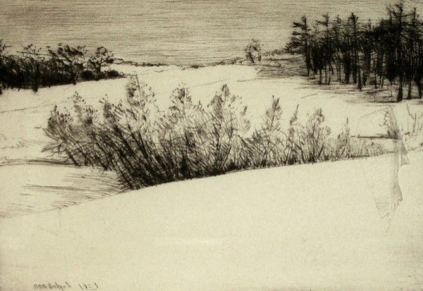 8: Frank Bicknell - Winter Etching (Am 1866-1953)