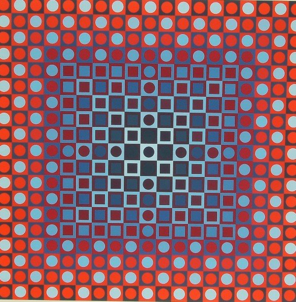 11: Victor Vasarely - Signed Abstract  (1908-1997)