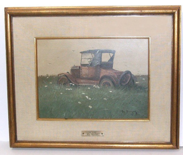 12: Ray Swanson - Model T - Watercolor (1937-2004)