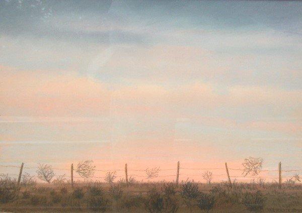 13: WJ Willis - Oklahoma Sunset - Watercolor