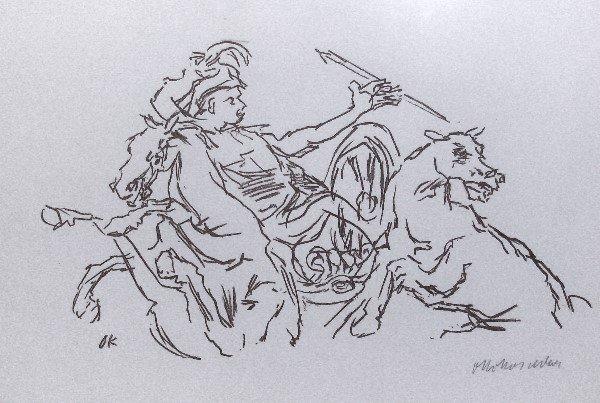 14: Oskar Kokoschka - Achilles - Signed Litho (1886-198