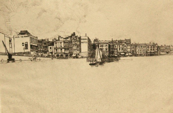 17: Unknown - Royal Hotel - Old Rare Etching