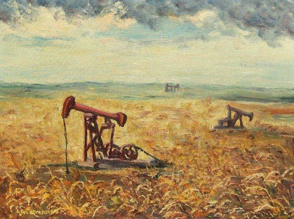 18: Lena Stubblefied - Oklahoma Oilfield - Oil