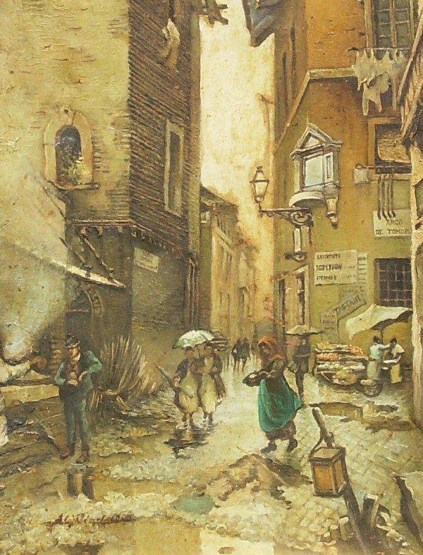 22: A Riad - Italian Street Scene - Oil