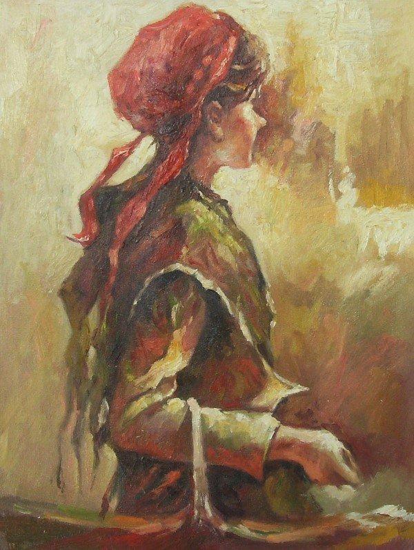 23: Unknown - Peasant Woman - Oil (20th c)