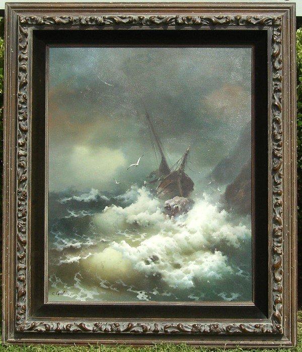 54: Eugene Garin - Shipwreck - Oil