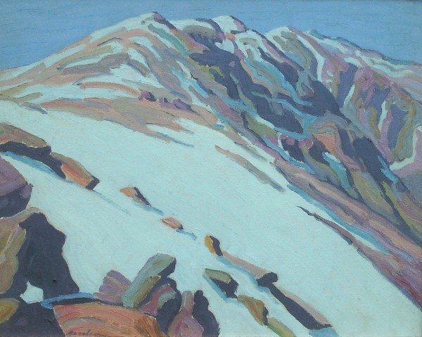 111: Oscar Jacobson - Mountain Landscape - Oil (1882-19