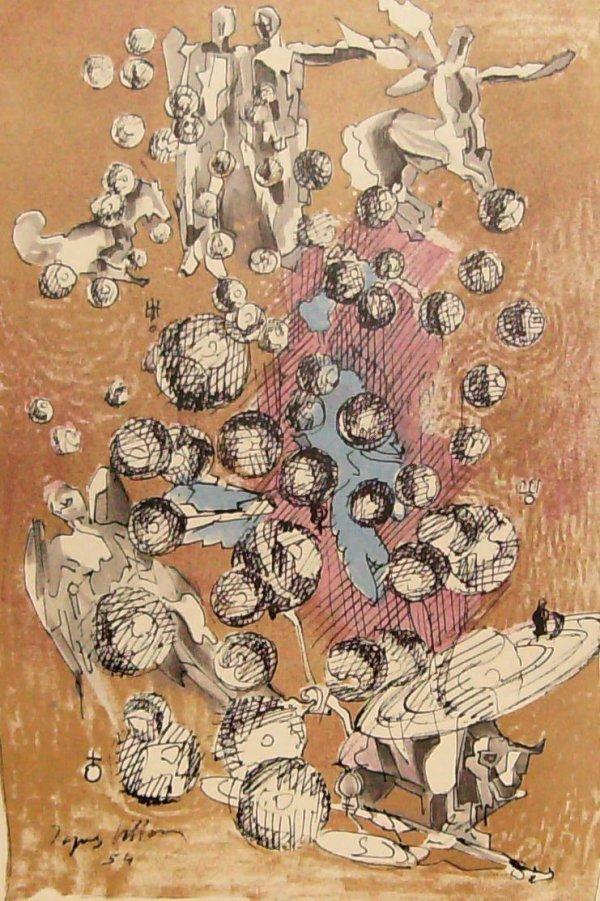 238: Jacques Villon - Les Mondes - Litho (1875-1963)