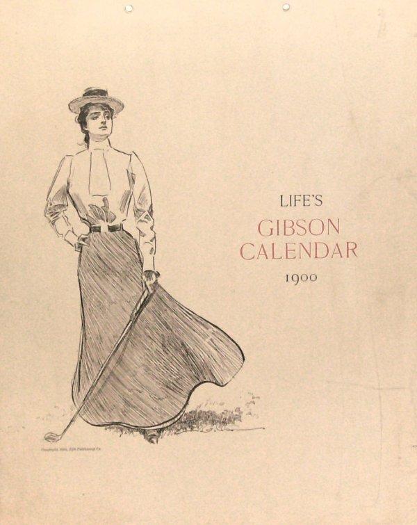 241: Life's Gibson Calendar 1900 - Wood engravings
