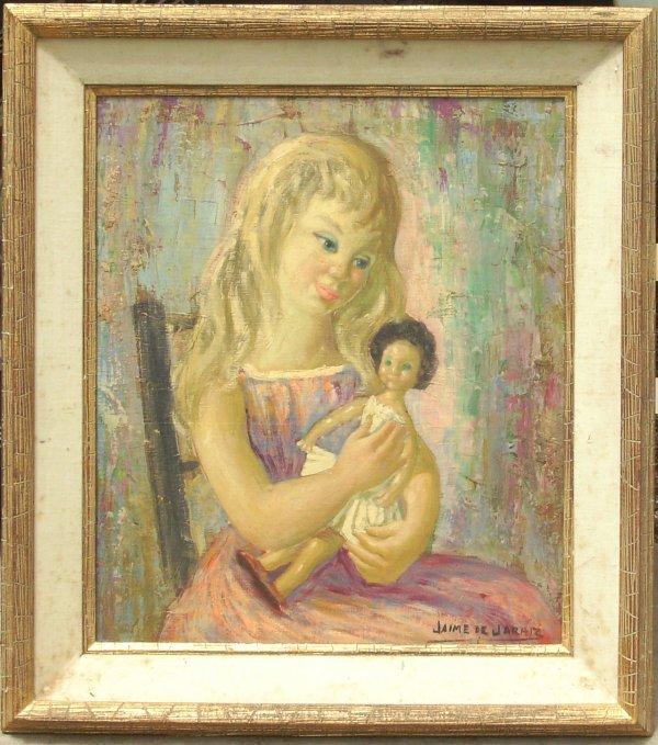 257: Jaine de Jarhlz - Girl with Doll - Oil