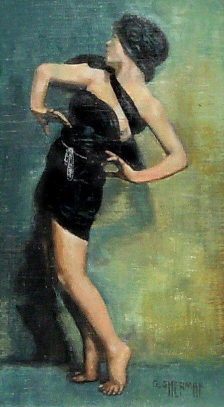 258: Gary Sherman - Dancer - Oil on Panel