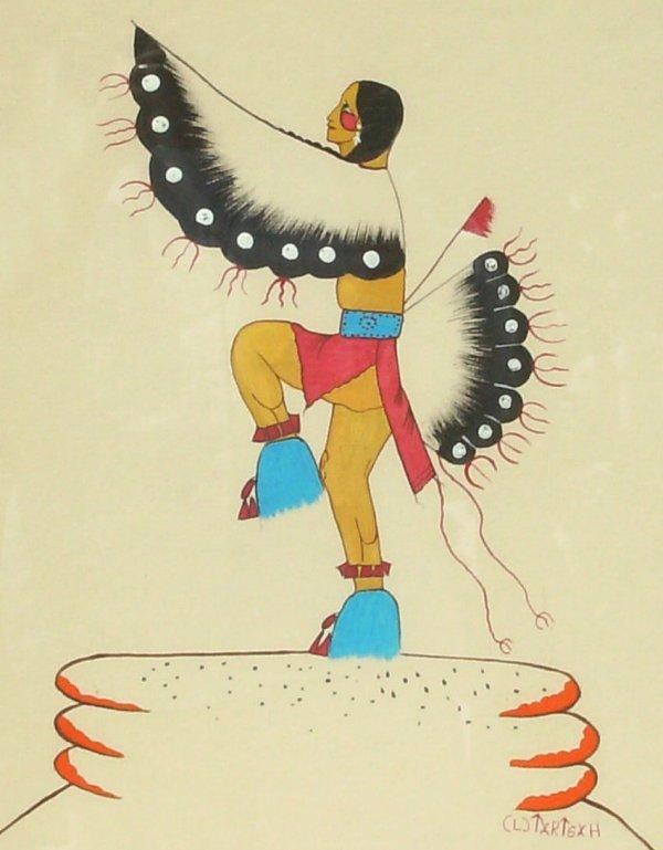259: Jim Tartsah - Fancy Dancer - Tempera