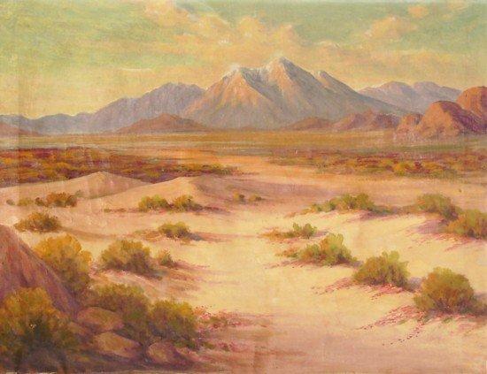6: Desert Landscape - Oil on Canvas