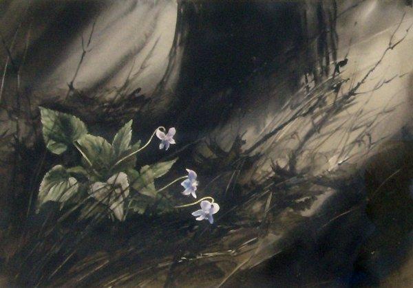 8: Jack Vallee - Watercolor - Flowers
