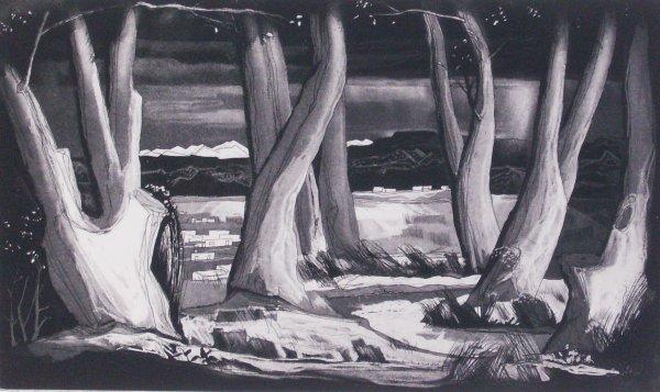 13: Doel Reed - Landscape Signed Etching