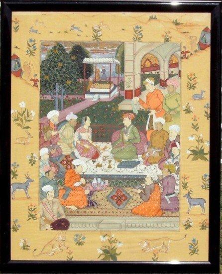 17: Persian Wedding Ceremony - Tempera on Silk