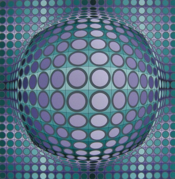 19: Victor Vasarely - Signed Abstract  (1908-1997)