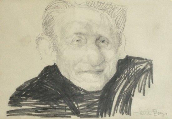 16: Charles Bragg - Spencer Tracy Drawing (b.1931)